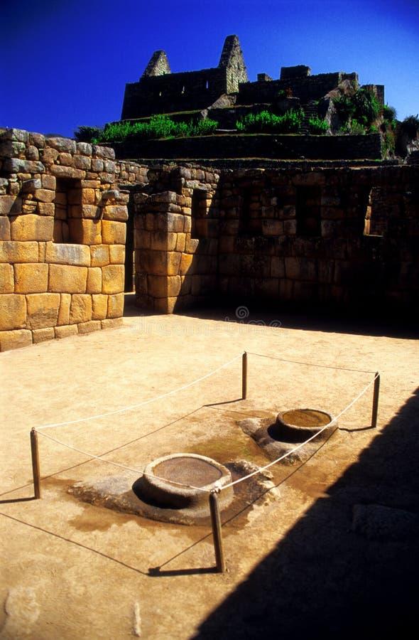 Machu intérieur Pichu - le Pérou images libres de droits