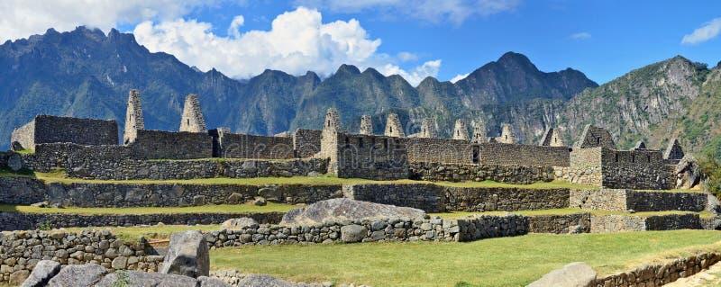 Machu Picchu - είναι μια ιερή πόλη της αυτοκρατορίας Inca στοκ εικόνα με δικαίωμα ελεύθερης χρήσης