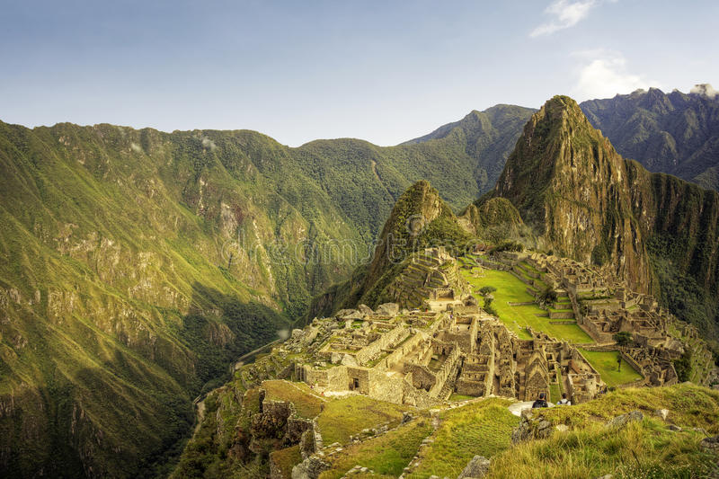 Machu Picchu, η αρχαία πόλη Inca, Περού στοκ φωτογραφίες