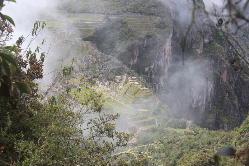 Machu Picchu видит wayna Picchu стоковые изображения