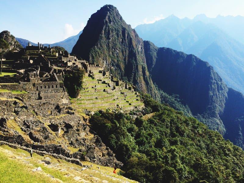 Machu Picchu, город Inca worldwonder стоковые изображения