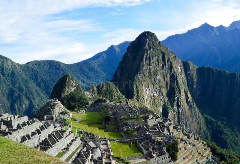 Machu Picchu и Huayna Picchu стоковое фото rf