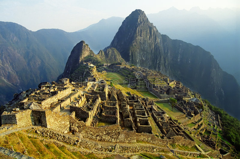 Machu Picchu. View of ancient incas town of Machu Picchu. Peru stock image