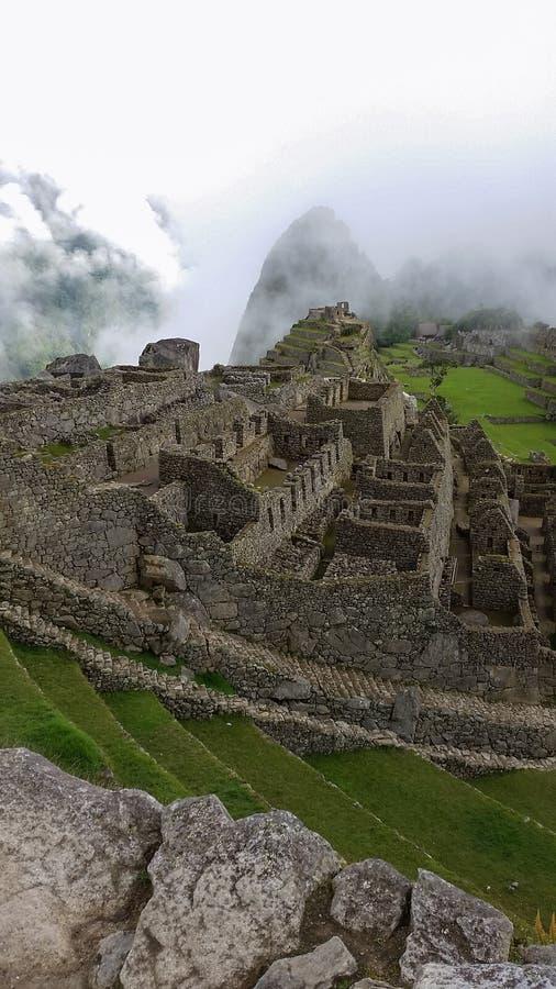 Machu Picchu ancient ruins stock photos