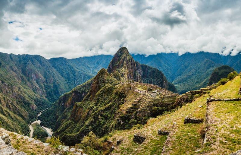 Machu Picchu, arkeologisk plats för forntida Inca, Peru arkivbilder