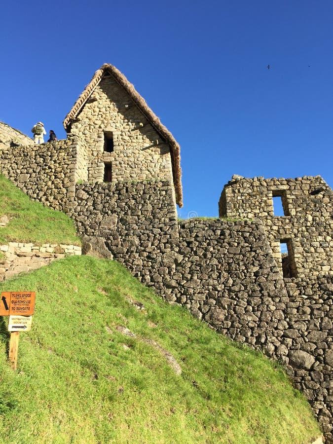 Machu Picchu arkitektur arkivbilder
