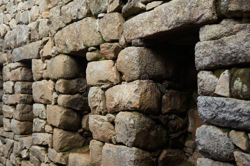 Machu Picchu arkitektur arkivfoto