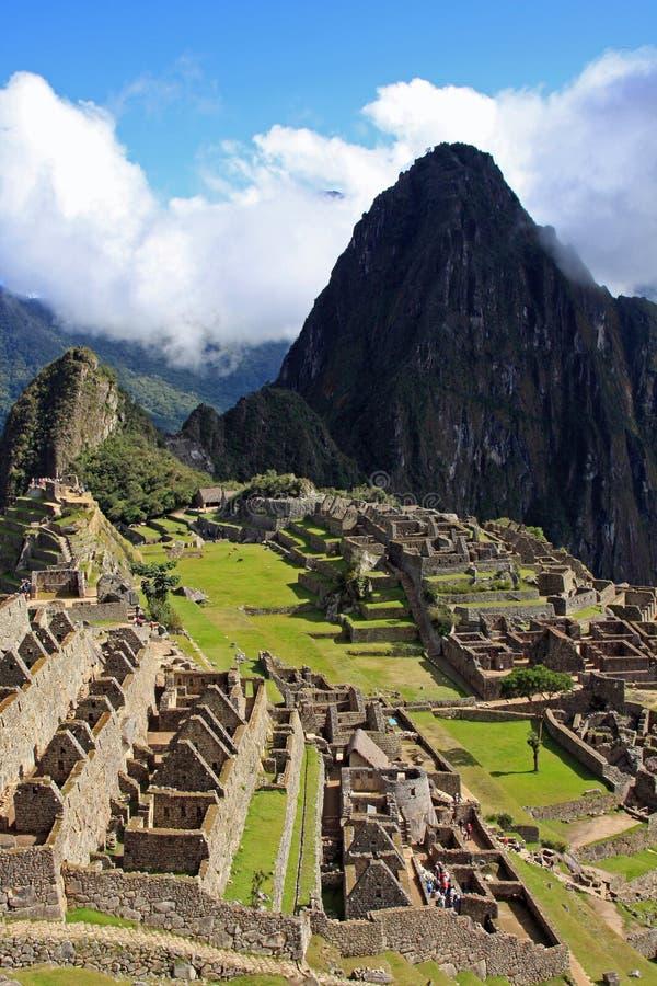 Machu Picchu, a cidade perdida do Inca em Peru imagens de stock royalty free