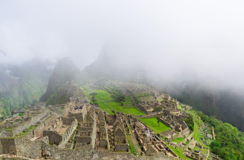 Machu Picchu Città persa di Inkas in montagne del Perù immagine stock libera da diritti