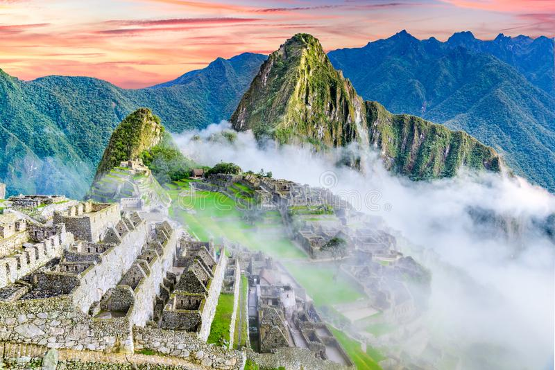 Machu Picchu, Cusco i Peru royaltyfri fotografi