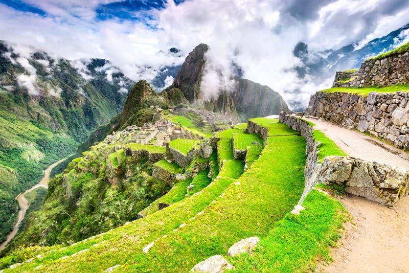 Machu Picchu, Cusco - Перу стоковая фотография rf