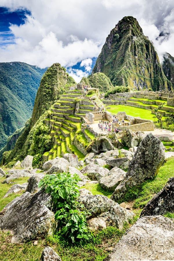 Machu Picchu, Cusco, Peru i Sydamerika arkivfoto