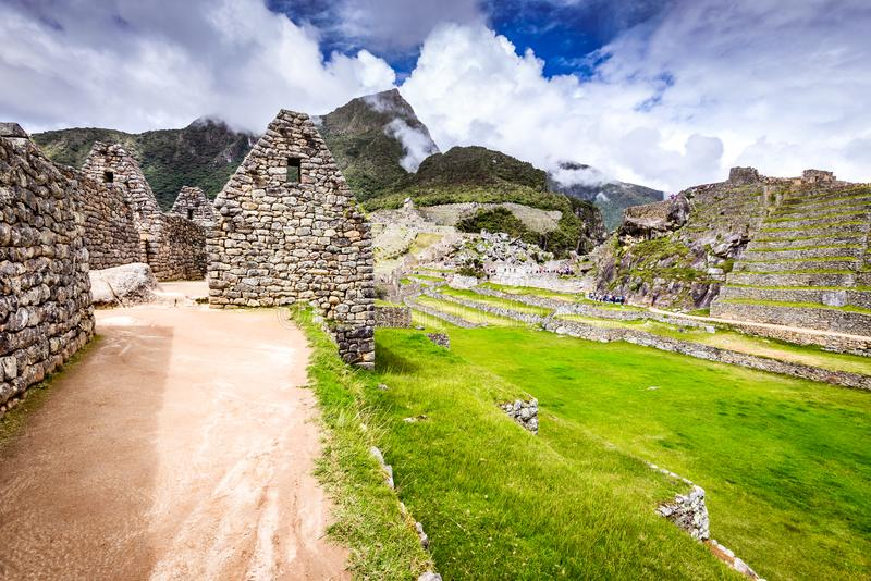 Machu Picchu, Cusco, Peru i Sydamerika arkivbilder