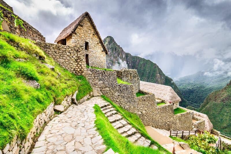 Machu Picchu, Cusco region - Peru, Sydamerika royaltyfria bilder
