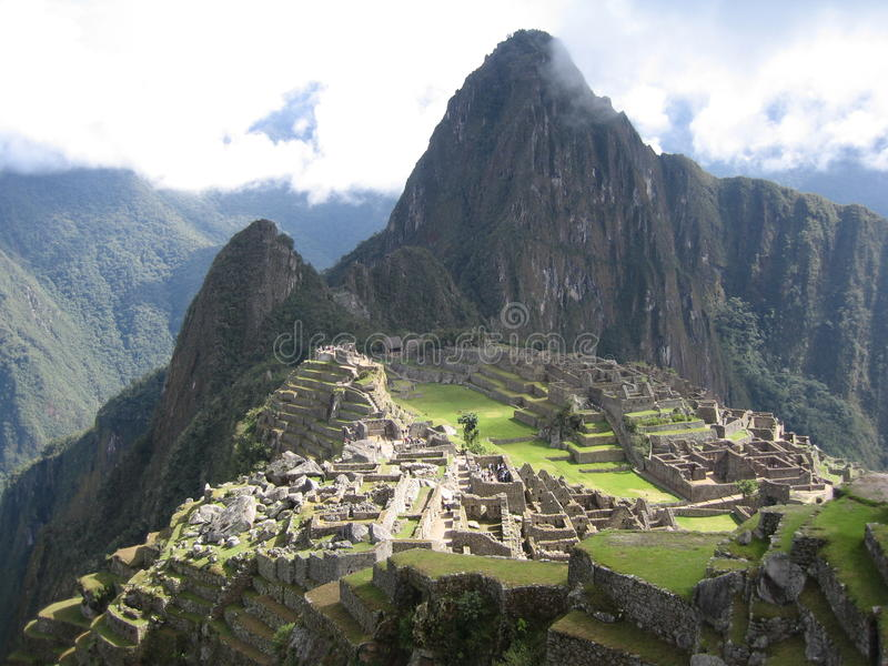 Machu Picchu da casa de protetor fotos de stock