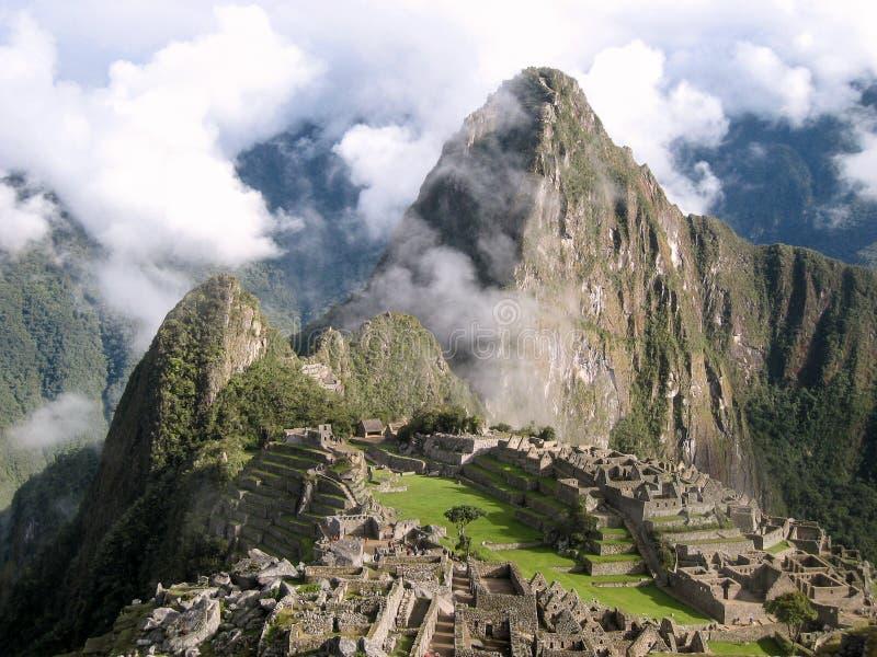 Machu Picchu in de vroege ochtend royalty-vrije stock afbeelding