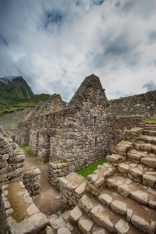 Machu Picchu details stock image