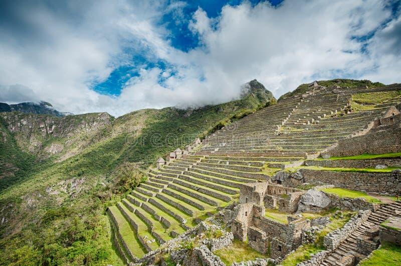 Machu Picchu details stock photo