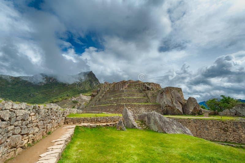 Machu Picchu detaljer royaltyfria bilder
