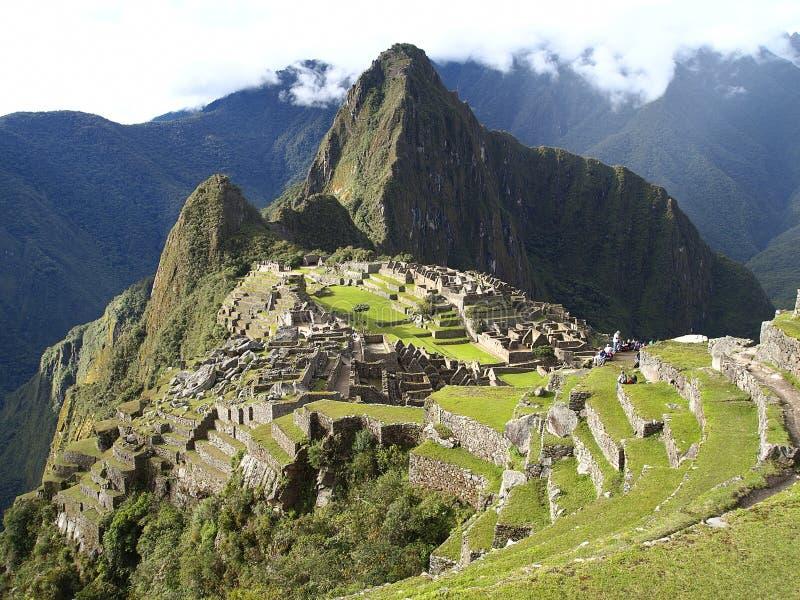 Machu Picchu, die alte Inkastadt von Peru stockbilder