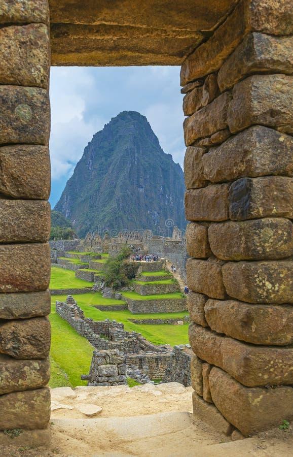 Machu Picchu Door, Cusco, Peru royalty free stock images