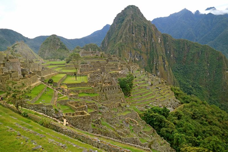 Machu Picchu in the Early Morning, the Famous Inca Ruins in Cusco Region, Urubamba Province, Peru royalty free stock photography