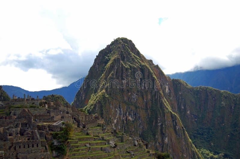 Machu Picchu en Huayna Picchu stock fotografie