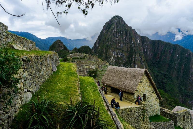 Machu Picchu en Peru Custo South America imagen de archivo