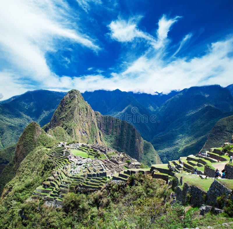 Machu Picchu, en UNESCO royaltyfri foto