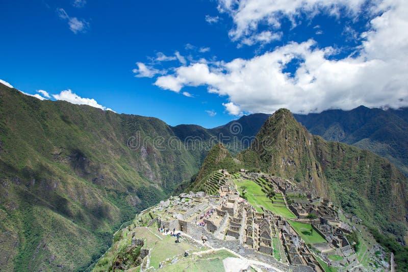 Machu Picchu, en UNESCO royaltyfria foton