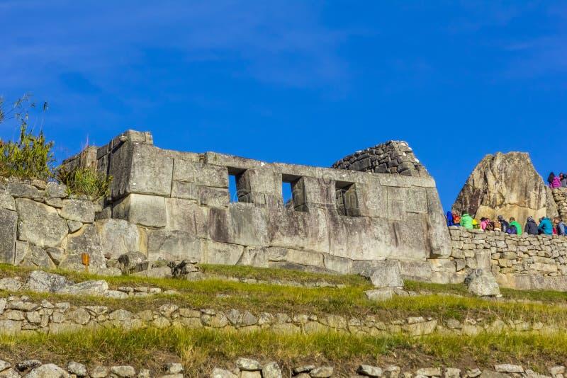 Machu Picchu fördärvar Cuzco Peru arkivbilder