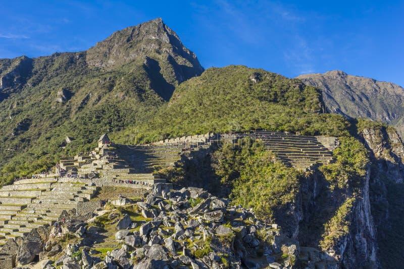 Machu Picchu fördärvar Cuzco Peru arkivfoto