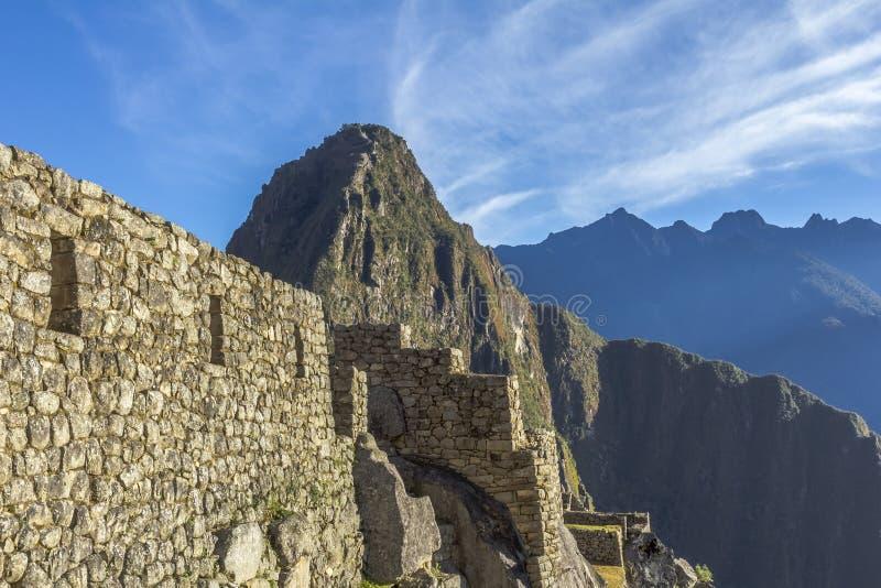 Machu Picchu fördärvar Cuzco Peru arkivfoton