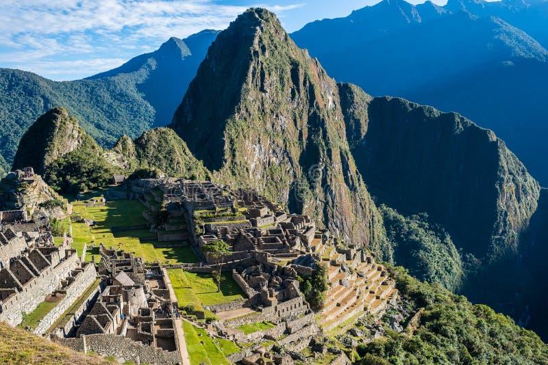Machu Picchu fördärvar peruanen Anderna Cuzco Peru royaltyfri fotografi