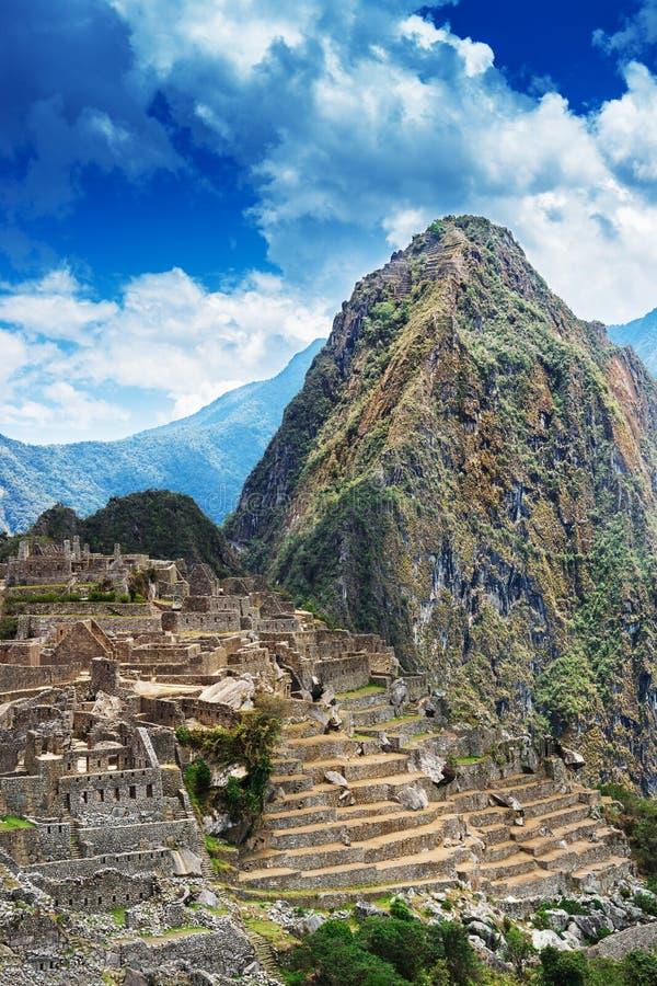 Machu Picchu and Huayna Picchu stock image