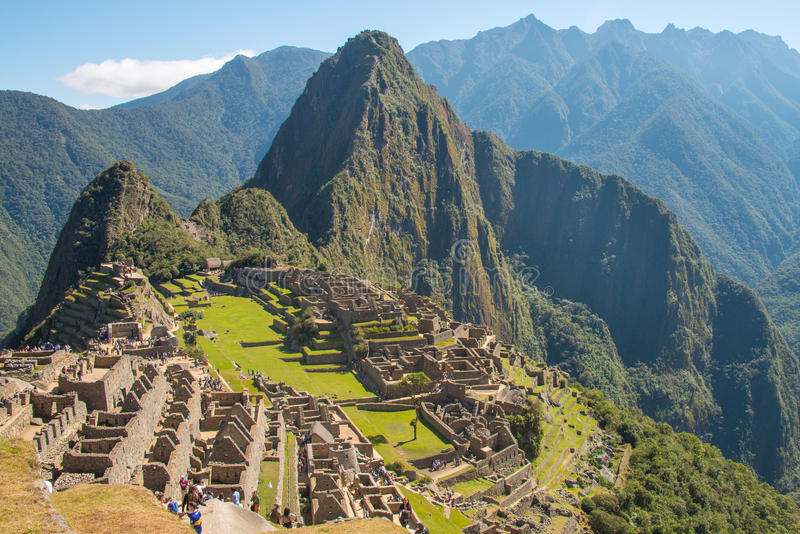 Machu Picchu and Huayna Picchu royalty free stock photos