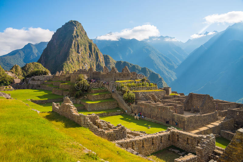 Machu Picchu and Huayna Picchu. In Peru royalty free stock photography