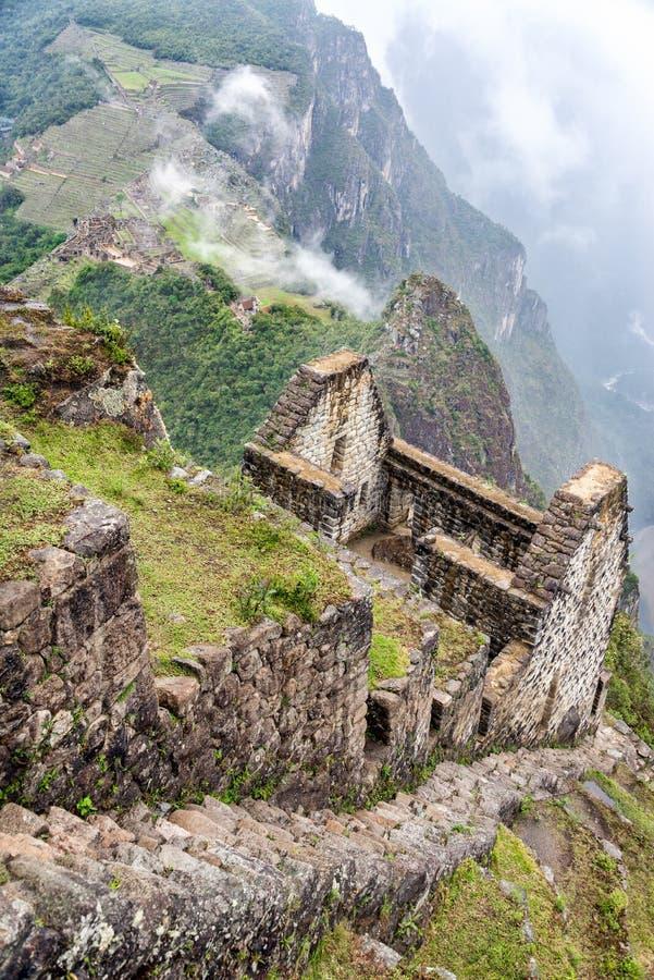 Machu Picchu from Huayna Picchu stock image