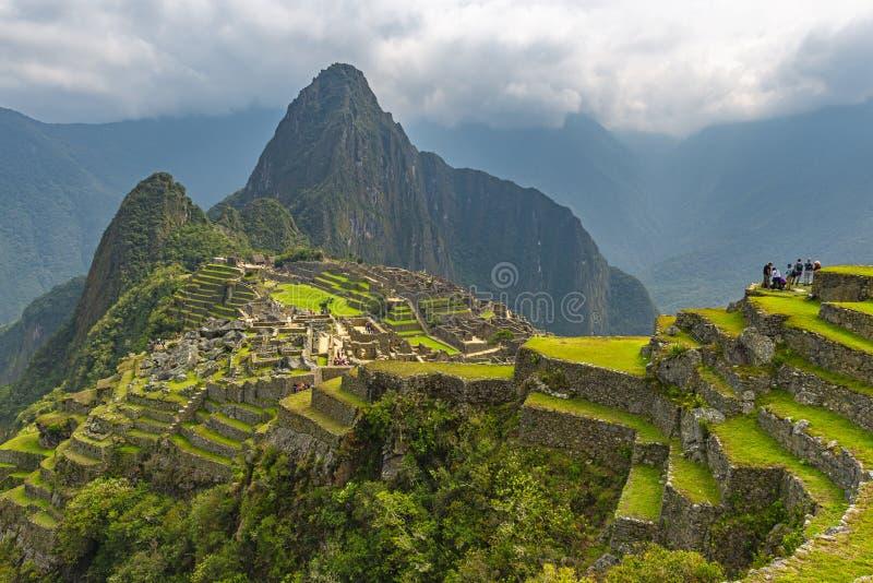Machu Picchu i våren, Peru fotografering för bildbyråer