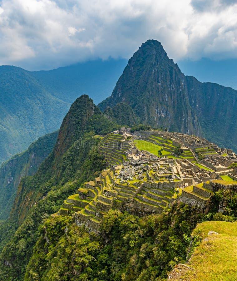Machu Picchu Inca Citadel, Cusco, Peru royaltyfri bild