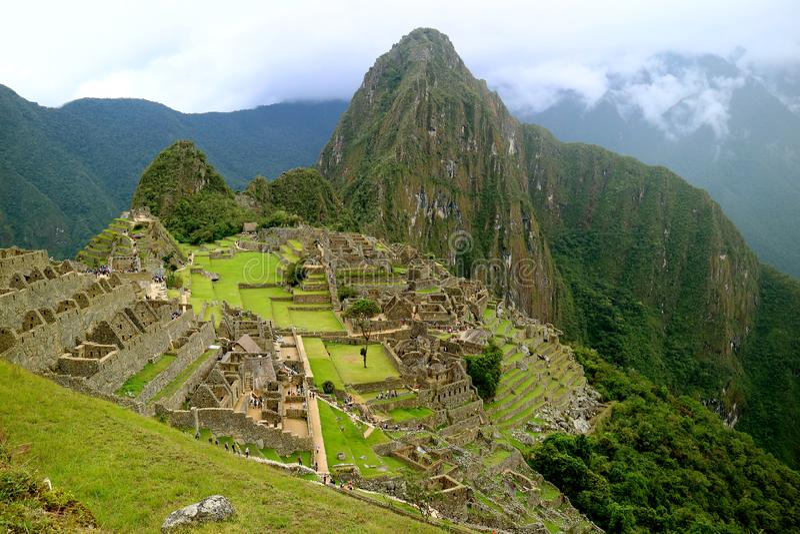 Machu Picchu Inca Citadel, the New Seven Wonder of the World in Cusco Region, Peru. South America royalty free stock photography