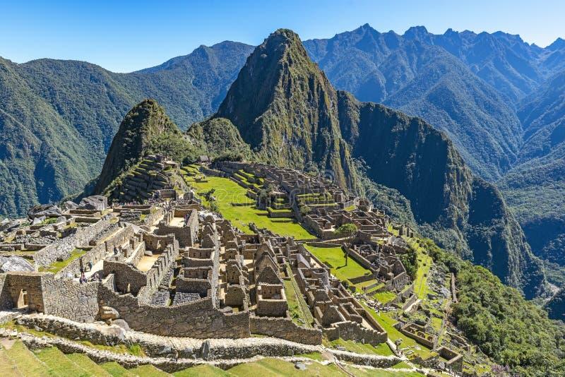 Machu Picchu Inca Ruin, Cusco, Peru royaltyfri bild