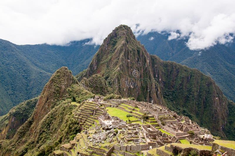 Machu Picchu Inca Ruin Peru arkivbilder
