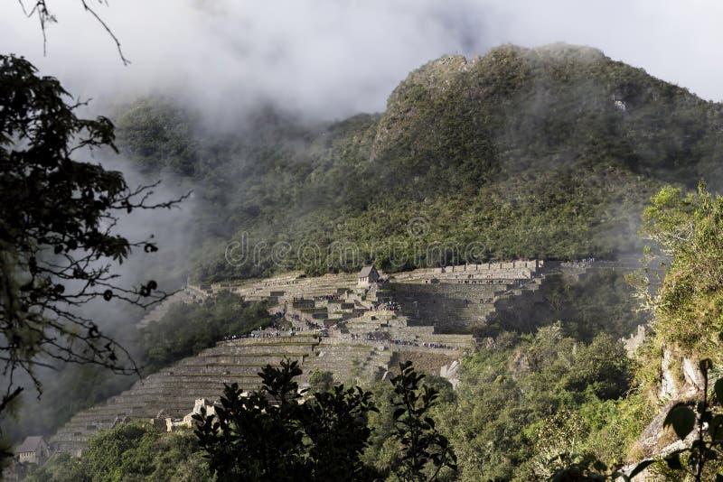 Machu Picchu Inca Ruins Seen From Huayna Picchu fotografia de stock royalty free