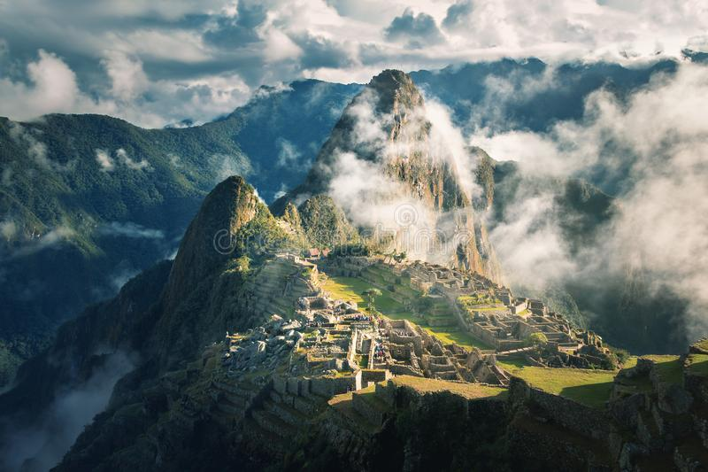 Machu Picchu Inca Ruins - vale sagrado, Peru fotos de stock royalty free