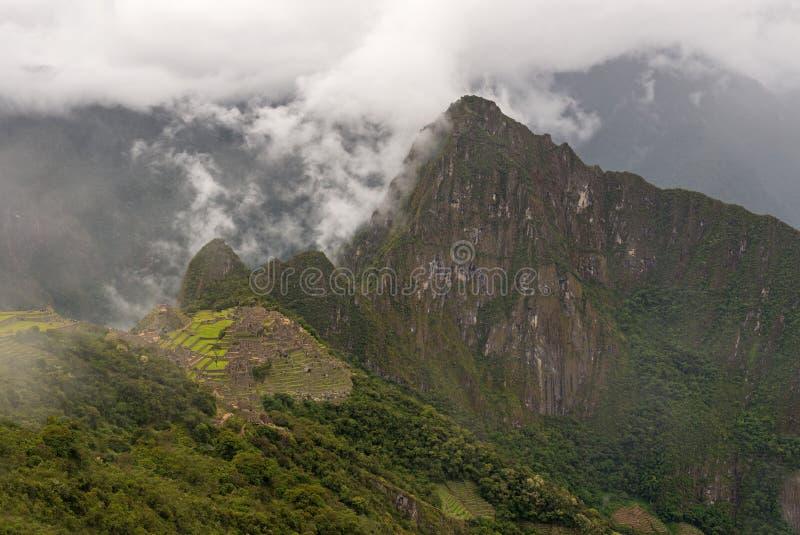 Machu Picchu Inca Trail Landscape, Peru lizenzfreie stockfotos