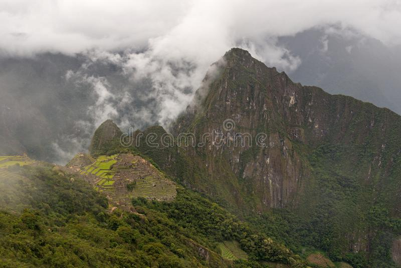 Machu Picchu Inca Trail Landscape, Peru fotos de stock royalty free