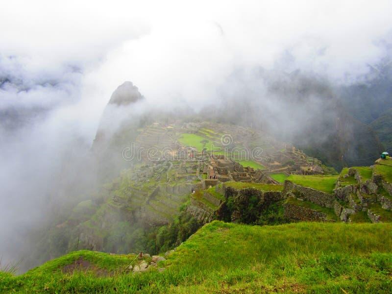 Machu Picchu Inca Trails, lado do país do Peru imagens de stock