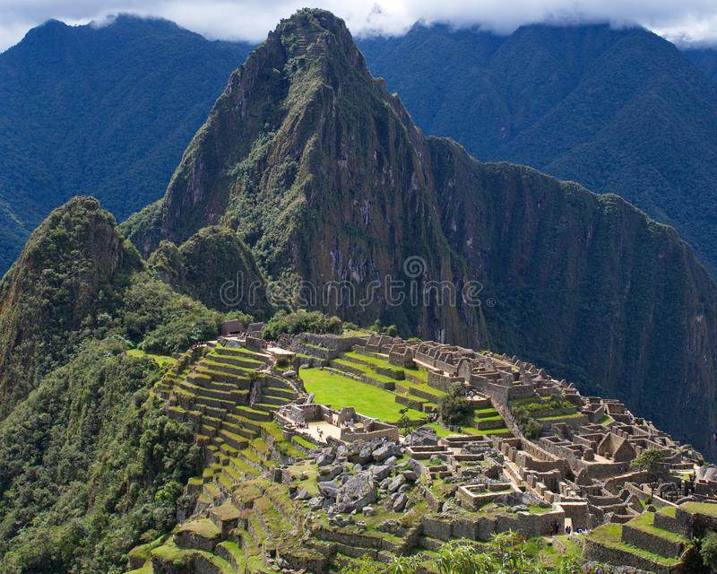 Machu Picchu in the late afternoon royalty free stock images