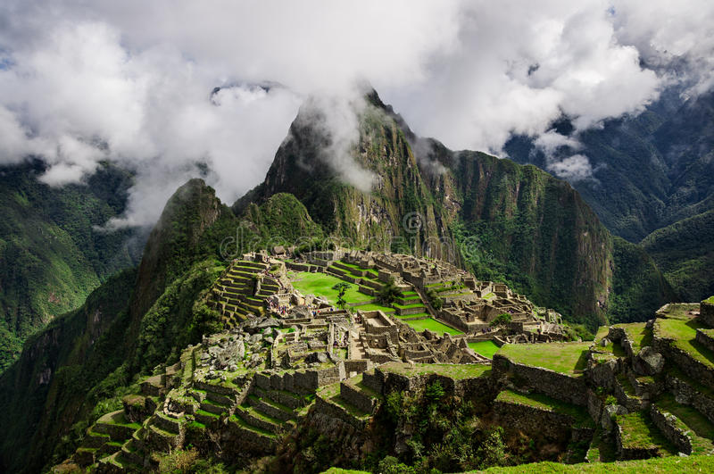 Machu Picchu. Lost city of Inkas in Peru mountains stock photography